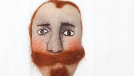 Текстильная кукла Мужчина с бородой и с мечтой!