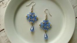 Сережки Блакитні