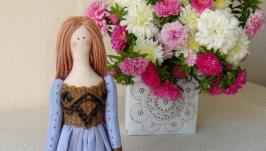 Кукла в стиле тильда Ребекка 48см