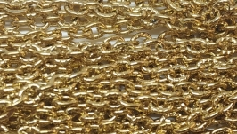 Цепь якорная декоративная позолоченная из нержавеющей стали
