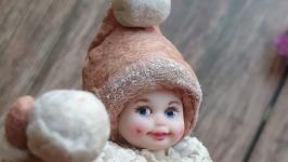Ёлочная игрушка из ваты