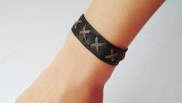 Мужской кожаный браслет ′BroLe′