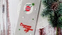 Открытка с вышивкой ′Сказочного Нового года!′