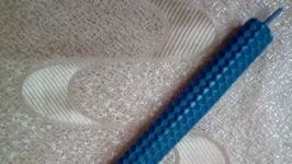 Синие свечи из вощины (пчелиный воск) 20*1,9