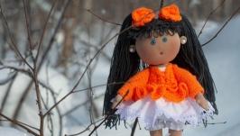Кукла ручной работы текстильная интерьерная