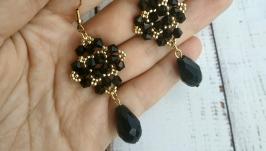 Сережки чорні