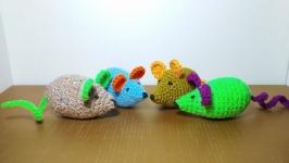 Мышь-игрушка для кошек с кошачьей мятой (анти-стресс)