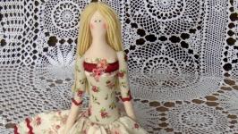 Кукла в стиле тильда Доминика 48см
