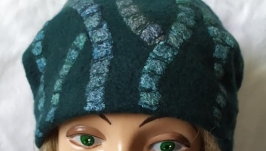 Валяная шапка-бини