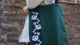 Еко-сумка Квіти хрестиком 01 від Richelieu Studio LO