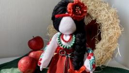 Лялька мотанка «дівчина Калинка».