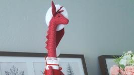 Текстильная жирафа скоро Новый год.