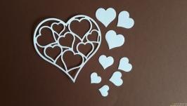 вырубка Сердечко с сердечками, Высечки для скрапбукинга