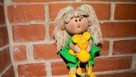 Кукла текстильная интерьерная ручной работы