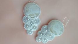 Шелковые серьги (свадебные, праздничные) ′Silvia′