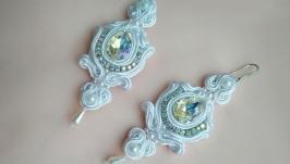 Шелковые серьги (свадебные, праздничные) ′Zoe′
