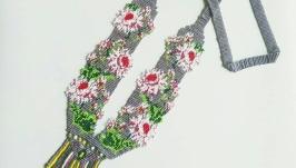 Красивое цветочное колье Украшение на шею Лучший подарок