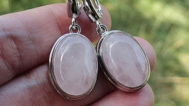 Серьги ROSE QUARTZ - серебро, розовый кварц
