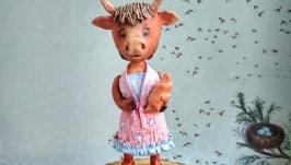 Ёлочная игрушка ′Корова′