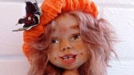 Кукла ручной работы- Лисичка
