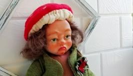Кукла ручной работы-Мухомор