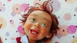 Кукла ручной работы - Антошка.