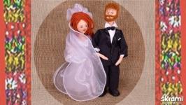 Куклы жених и невеста. Свадебная кукла.