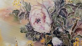 Картина ′Цветущая ветка′, батик
