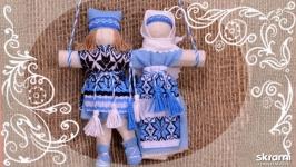 Неразлучники. Свадебная народная кукла.