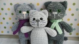 Мягкая игрушка Котик, стиль вязания амигуруми