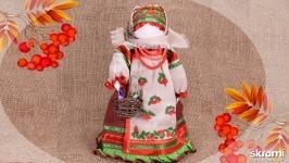 тут изображено Народная кукла Рябинка. Календарные народные куклы.