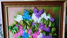 картина ′ Запах весны ′ -вышивка лентами