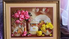 картина ′Карамелька′  - вышивка лентами
