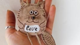 Керамический кот. Подвескаплакетка
