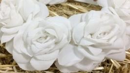 Ободок «Білі троянди»