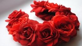 Ободок «Червона троянда»