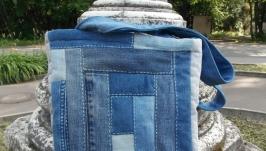 Сумка из джинсовых лоскутов