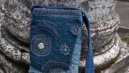 Сумочка джинсовая через плечо