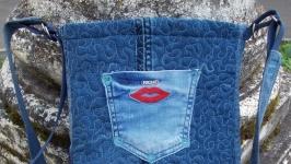 Сумка джинсовая ′Валентинка′