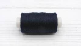 Нитки джинсовые темно-синий для вязания жгутов