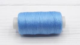 Нитки джинсовые голубой для вязания жгутов
