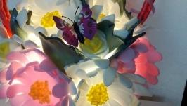 Светильник из изолона Корзина с цветами
