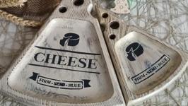 Комплект сервірувальних  дошок для подачі сиру ′Cheese′ на замовлення