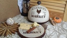 Кухонний комплект Farmers market : клош и сирна дошка