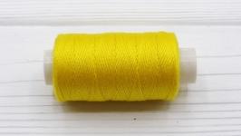Нитки джинсовые желтый для вязания жгутов