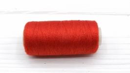 Нитки джинсовые красный для вязания жгутов