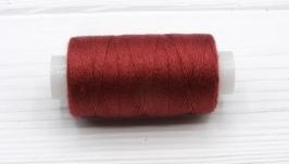 Нитки джинсовые бордовый для вязания жгутов