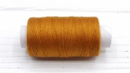 Нитки джинсовые рыжий для вязания жгутов