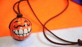 Підвіска ′Божевільний гарбуз′. Чудовий подарунок на Хелловін.