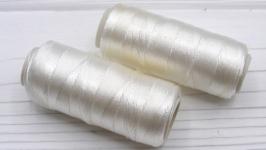 Нитки для бисера вышивки белый